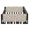 Giraffe Neutral Baby Crib Side Rail Guard Covers by Sweet Jojo Designs - Set of 2