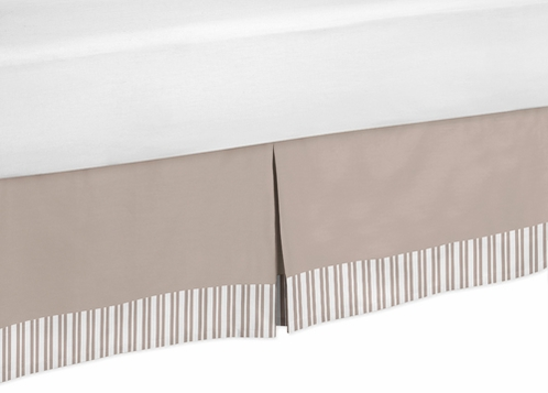 Giraffe Neutral Bed Skirt for Toddler Bedding Sets by Sweet Jojo Designs - Click to enlarge