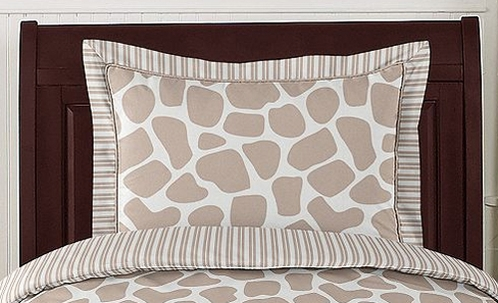 Giraffe Pillow Sham by Sweet Jojo Designs - Click to enlarge