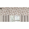 Giraffe Neutral Window Valance by Sweet Jojo Designs