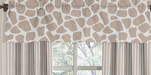 Giraffe Neutral Window Valance by Sweet Jojo Designs - Click to enlarge