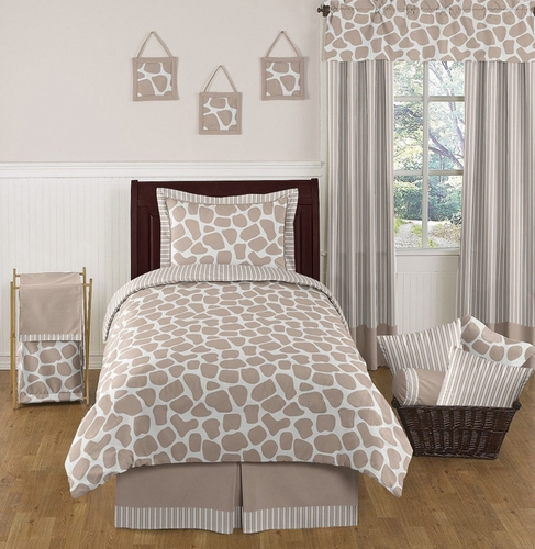 Giraffe Neutral Kids Bedding - 4 pc Twin Set by Sweet Jojo Designs - Click to enlarge