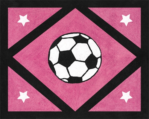 Girls Soccer Accent Floor Rug - Click to enlarge
