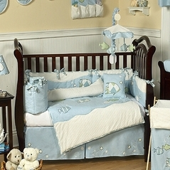 Go Fish Ocean Baby Bedding - 9 pc Crib Set