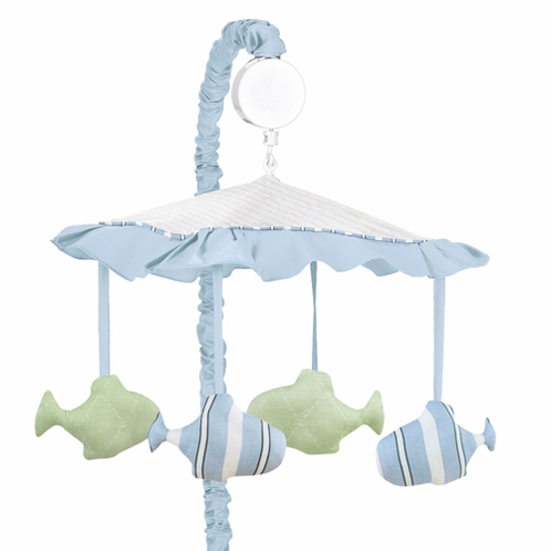 Go Fish Ocean Fishing Baby Musical Crib Mobile by Sweet Jojo Designs - Click to enlarge