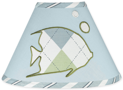 Go Fish Ocean Fishing Lamp Shade by Sweet Jojo Designs - Click to enlarge