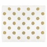 Gold and White Polka Dot Accent Floor Rug or Bath Mat for Black Watercolor Floral Collection by Sweet Jojo Designs
