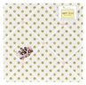 Gold and White Polka Dot Amelia Fabric Memory/Memo Photo Bulletin Board