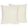 Gold and White Polka Dot Decorative Accent Throw Pillows for Amelia Bedding by Sweet Jojo Designs - Set of 2