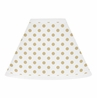 Gold and White Polka Dot Lamp Shade for Watercolor Floral Collection by Sweet Jojo Designs