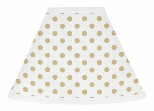 Gold and white polka dot lamp shade for watercolor floral collection gold and white polka dot lamp shade for watercolor floral collection by sweet jojo designs aloadofball Choice Image