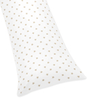 Gold and White Star Body Pillow Case Cover for Celestial Collection by Sweet Jojo Designs (Pillow Not Included)