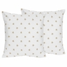 Gold and White Star Decorative Accent Throw Pillows for Celestial Collection by Sweet Jojo Designs - Set of 2
