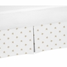 Gold and White Star Pleated Toddler Bed Skirt Dust Ruffle for Celestial Collection by Sweet Jojo Designs
