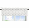 Gold and White Star Window Treatment Valance for Celestial Collection by Sweet Jojo Designs