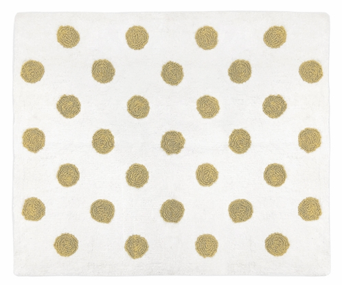 Gold Polka Dot Accent Floor Rug for Amelia Collection by Sweet Jojo Designs - Click to enlarge