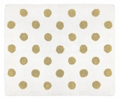 Gold Polka Dot Accent Floor Rug for Amelia Collection by Sweet Jojo Designs