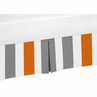 Gray and Orange Crib Bed Skirt for Stripe Baby Bedding Sets by Sweet Jojo Designs