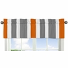 Gray and Orange Stripe Collection Window Valance by Sweet Jojo Designs