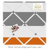 Gray and Orange Stripe Fabric Memory/Memo Photo Bulletin Board