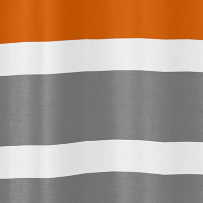 Gray And Orange Stripe Kids Bathroom Fabric Bath Shower Curtain Only 3999
