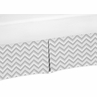 Gray and White Chevron Crib Bed Skirt for Zig Zag�Baby Bedding Sets by Sweet Jojo Designs