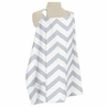 Gray and White Chevron Zig Zag Infant Baby Breastfeeding Nursing Cover Up Apron by Sweet Jojo Designs