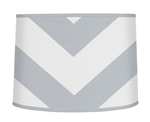 Gray and White Chevron ZigZag Lamp Shade by Sweet Jojo Designs