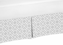 Gray and White Crib Bed Skirt for Diamond Baby Bedding Sets by Sweet Jojo Designs