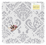 Gray and White Damask Fabric Memory/Memo Photo Bulletin Board by Sweet Jojo Designs