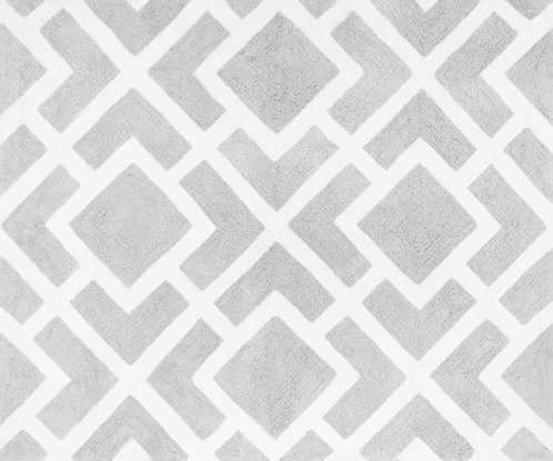 Gray and White Diamond Accent Floor Rug by Sweet Jojo Designs - Click to enlarge