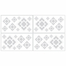 Gray and White Diamond Baby and Kids Wall Decal Stickers by Sweet Jojo Designs - Set of 4 Sheets