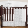Gray and White Diamond Baby Bedding - 4pc Crib Set by Sweet Jojo Designs