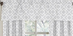 Gray and White Diamond�Window Valance by Sweet Jojo Designs