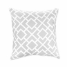 Gray and White Diamond Decorative Accent Throw Pillow by Sweet Jojo Designs