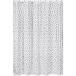 Gray and White Diamond Kids Bathroom Fabric Bath Shower Curtain by Sweet Jojo Designs