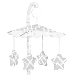 Gray and White Diamond Musical Baby Crib Mobile by Sweet Jojo Designs