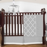 Gray and White Trellis Baby Bedding - 4pc Crib Set by Sweet Jojo Designs