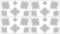 Gray and White Trellis Childrens and Kids Wall Decal Stickers - Set of 4 Sheets