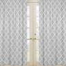 Gray and White Trellis Collection Lattice Window Treatment Panels - Set of 2