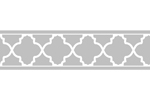 Gray and White Trellis Kids and Baby Modern Wall Paper Border by Sweet Jojo Designs