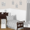 Gray and White Trellis Toddler Bedding - 5pc Set by Sweet Jojo Designs