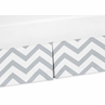 Gray and White ZigZag Crib Bed Skirt for Chevron Bedding Sets