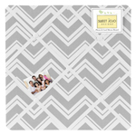 Gray Chevron Zig Zag Fabric Memory/Memo Photo Bulletin Board by Sweet Jojo Designs