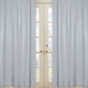Gray Window Treatment Panels for Gray and White Chevron Collection - Set of 2