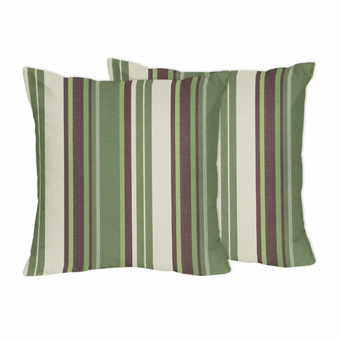 Green and Brown Ethan Decorative Accent Throw Pillows by Sweet Jojo Designs - Set of 2 - Click to enlarge