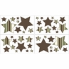 Green and Brown Ethan Modern Baby and Kids Wall Decal Stickers - Set of 4 Sheets