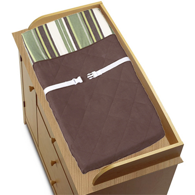 Green and Brown Ethan Modern Boys Changing Pad Cover - Click to enlarge