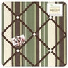 Green and Brown Ethan Modern Fabric Memory/Memo Photo Bulletin Board