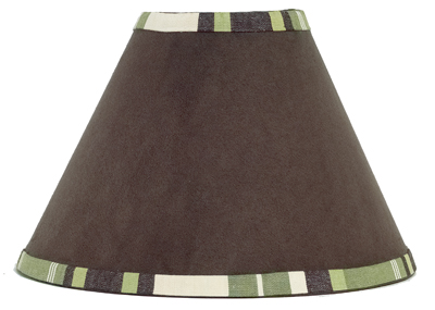 Green and Brown Ethan Modern Lamp Shade by Sweet Jojo Designs - Click to enlarge